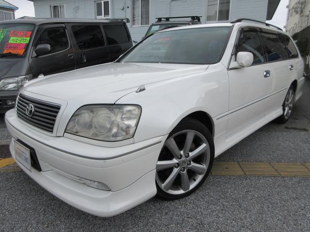 沖縄県の中古車ならクラウンエステート アスリートV 1JZターボ サンルーフ フルエアロ ウィング