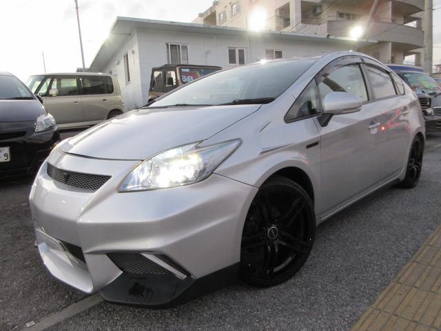 沖縄県中頭郡北谷町の中古車ならプリウス G LEDエディション LB仕様 19インチアルミ 車高調