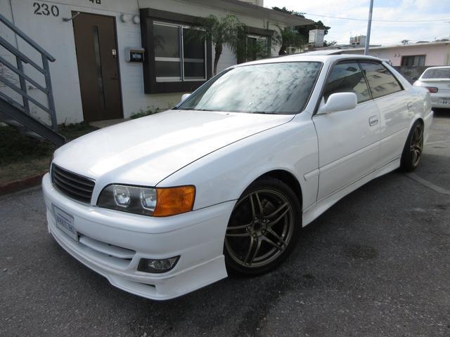 沖縄県の中古車ならチェイサー ツアラーV 車高調 新品ラジエター サンルーフ フルエアロ