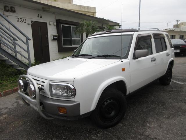 沖縄県の中古車ならラシーン タイプIII 大型サンルーフ グリルガード ウッドパネル