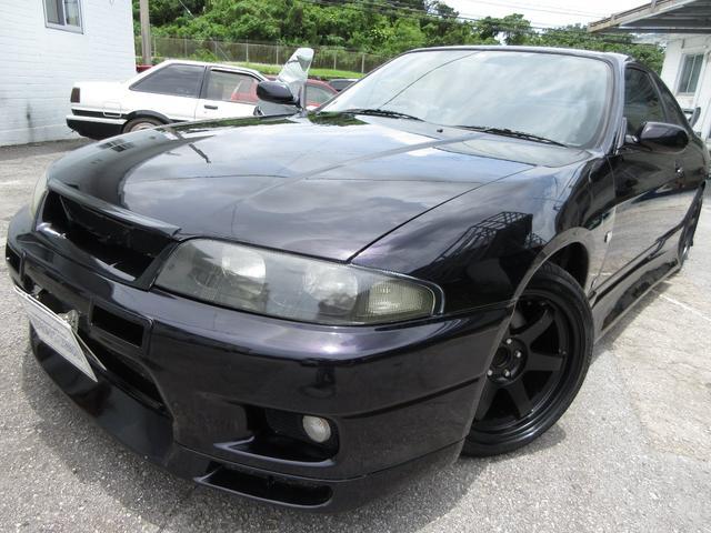 沖縄県中頭郡北谷町の中古車ならスカイライン GTS25tタイプM GTRフェイス 車高調 社外マフラー