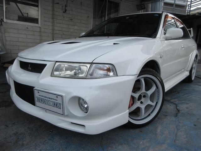 沖縄県の中古車ならランサー GSRエボリューションVI ADVAN18アルミ 社外マフラ