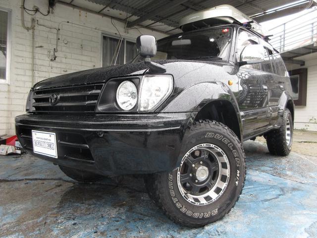 沖縄県の中古車ならランドクルーザープラド TXワイド NEWオールペイント 社外16アルミ