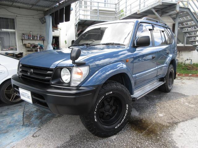 沖縄の中古車 トヨタ ランドクルーザープラド 車両価格 179万円 リ済別 1997(平成9)年 18.0万km ブルー