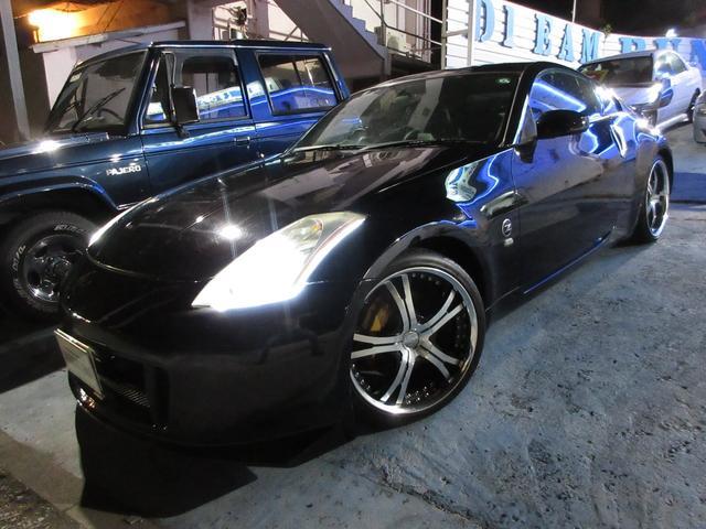 沖縄県の中古車ならフェアレディZ バージョンST 社外19アルミ nismoエアロバンパー 大型ウィング 社外マフラー