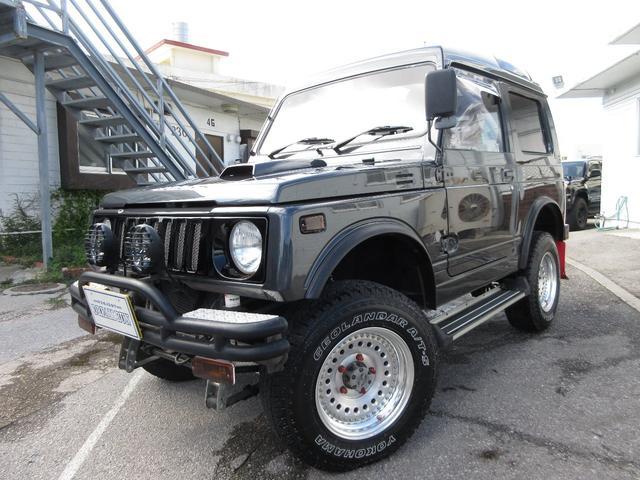 沖縄県の中古車ならジムニー EC パノラミックルーフ NEWオールペイント 公認リフトアップ 社外アルミ 社外マフラー