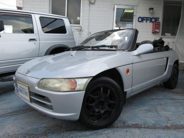 沖縄の中古車 ホンダ ビート 車両価格 75万円 リ済別 1992(平成4)年 9.2万km シルバー