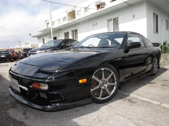沖縄県の中古車なら180SX タイプIII 車高調 フルエアロ 社外アルミ 社外マフラー 社外ラジエター 社外LSD Defi3連メーター RECAROシート