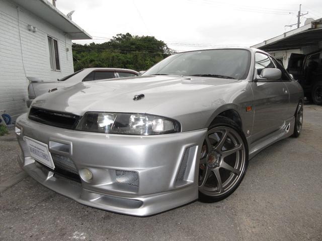 沖縄県の中古車ならスカイライン GTS25tタイプM 40th ANNIVERSARY NEWオールペイント GRIDYインタークーラー ラジエターTEIN車高調 社外LSD フルエアロ 社外ボンネット 社外18アルミ