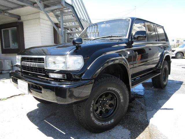 沖縄県の中古車ならランドクルーザー80 VXリミテッド NEWオールペイント リフトアップ サンルーフ 社外アルミ
