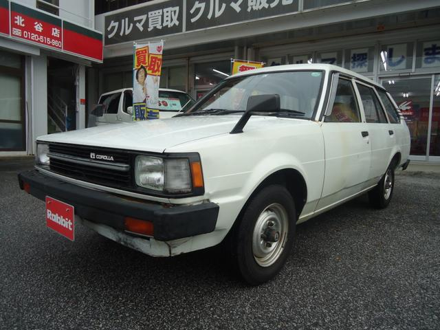 沖縄の中古車 トヨタ カローラバン 車両価格 89万円 リ済別 1985(昭和60)年 10.2万km ホワイト