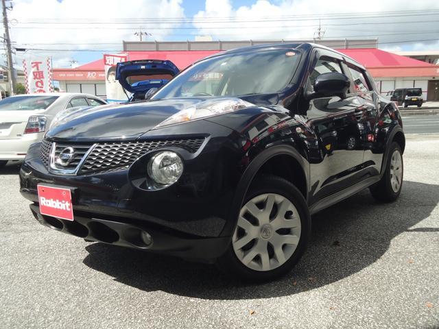 沖縄の中古車 日産 ジューク 車両価格 76万円 リ済別 2011(平成23)年 7.4万km サファイアブラックP