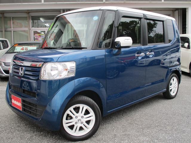 沖縄の中古車 ホンダ N-BOX+ 車両価格 79万円 リ済別 2015(平成27)年 7.9万km ブルー/ホワイト