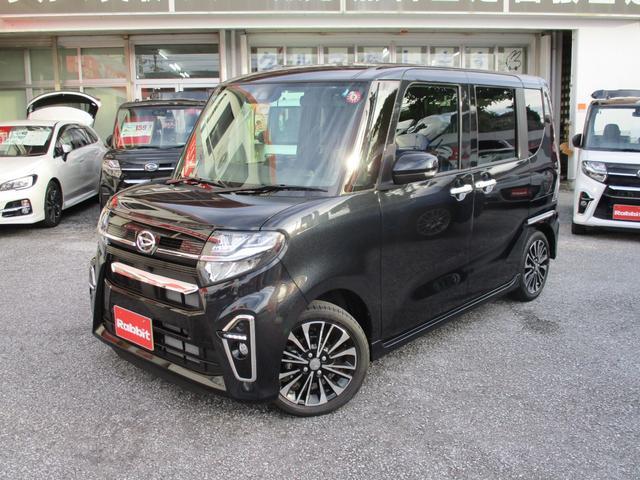 沖縄の中古車 ダイハツ タント 車両価格 189万円 リ済別 2019(令和1)年 14km パールブラック
