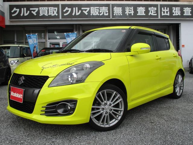 沖縄の中古車 スズキ スイフトスポーツ 車両価格 89万円 リ済別 2013(平成25)年 5.9万km チャンピオンイエロー4