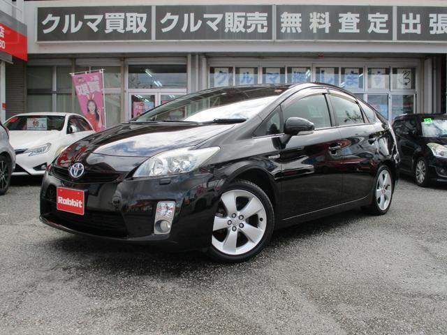 沖縄の中古車 トヨタ プリウス 車両価格 79万円 リ済別 2011(平成23)年 8.2万km ブラック