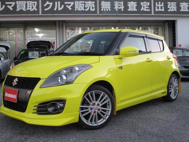 沖縄の中古車 スズキ スイフトスポーツ 車両価格 98万円 リ済別 2013(平成25)年 5.2万km チャンピオンイエロー4