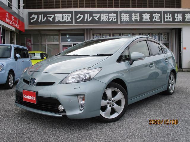 沖縄の中古車 トヨタ プリウス 車両価格 ASK リ済別 2012(平成24)年 3.6万km フロスティーグリーンマイカ