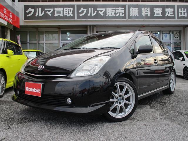 沖縄の中古車 トヨタ プリウス 車両価格 65万円 リ済別 2008(平成20)年 6.9万km ブラック