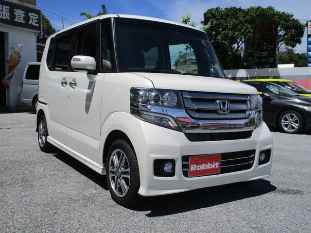 沖縄の中古車 ホンダ N-BOXカスタム 車両価格 85万円 リ済別 2016(平成28)年 6.4万km パールホワイト