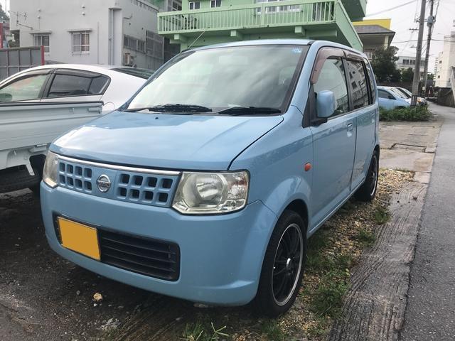 沖縄の中古車 日産 オッティ 車両価格 16万円 リ済込 2007(平成19)年 11.9万km ライトブルー