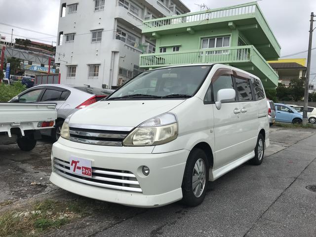 沖縄の中古車 日産 セレナ 車両価格 19万円 リ済込 2005(平成17)年 15.0万km ホワイト