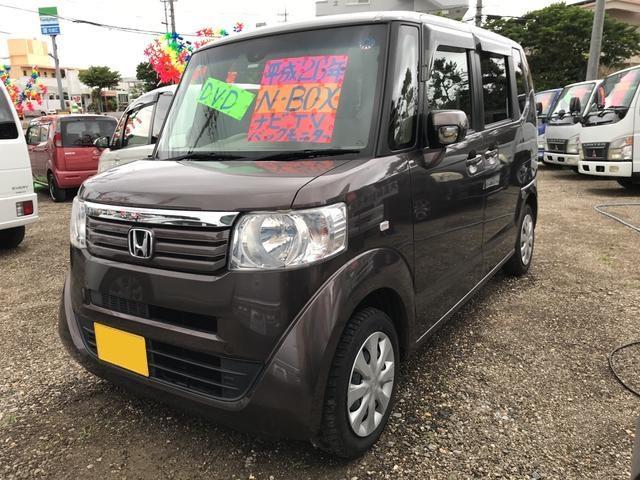 沖縄の中古車 ホンダ N-BOX 車両価格 66万円 リ済込 2014(平成26)年 8.7万km ブラウン