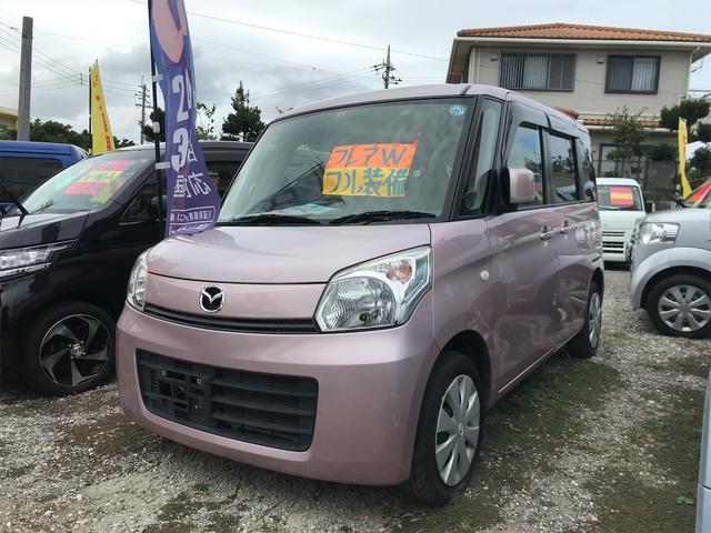 沖縄の中古車 マツダ フレアワゴン 車両価格 49万円 リ済込 2013(平成25)年 9.8万km ピンク