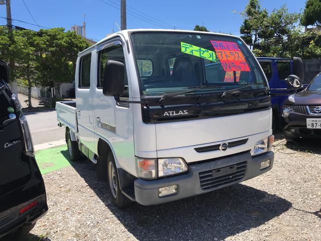沖縄県うるま市の中古車ならアトラストラック Wキャブ ディーゼル エアコン パワーウィンドウ マニュアル