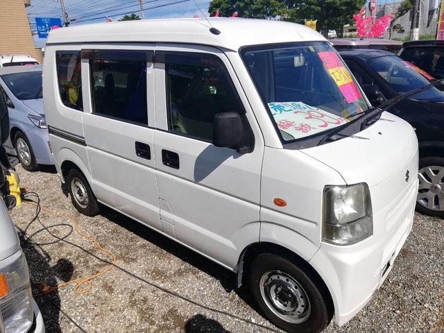 沖縄の中古車 スズキ エブリイ 車両価格 33万円 リ済込 2008(平成20)年 12.8万km ホワイト