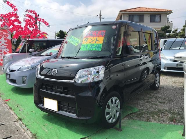 沖縄県の中古車ならタント X SA 両側パワースライドドア TVナビ DVD プッシュスタート スマートキー パワステ