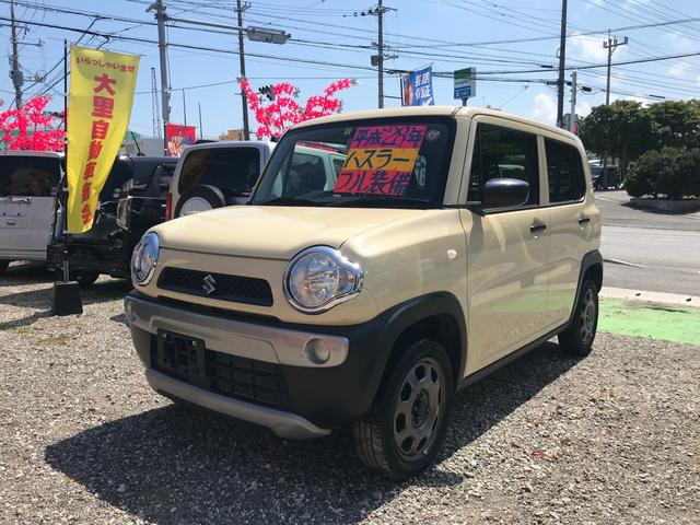 沖縄の中古車 スズキ ハスラー 車両価格 73万円 リ済込 2016(平成28)年 7.8万km ベージュ