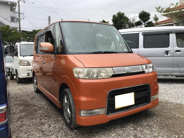 沖縄の中古車 ダイハツ タント 車両価格 19万円 リ済込 2007(平成19)年 19.6万km オレンジ