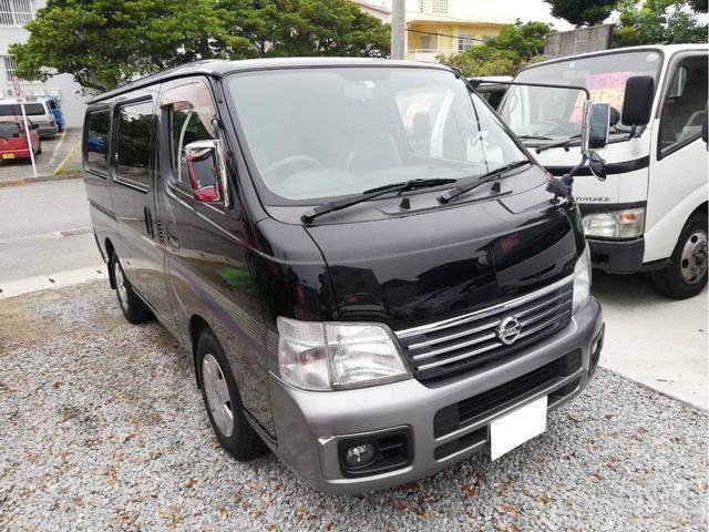 沖縄の中古車 日産 キャラバン 車両価格 84万円 リ済込 2005(平成17)年 16.5万km ブラック