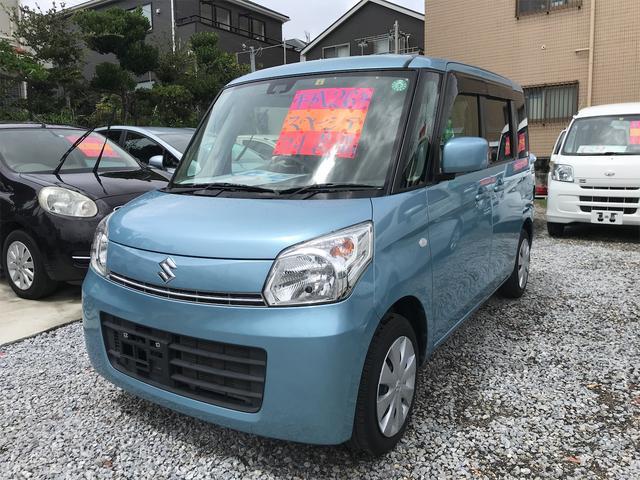 沖縄の中古車 スズキ スペーシア 車両価格 49万円 リ済込 2014(平成26)年 10.2万km ライトブルー