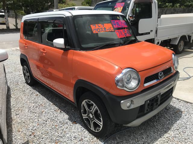 沖縄県うるま市の中古車ならフレアクロスオーバー XS プッシュスタート スマートキー アイドリングストップ HIDライト シートヒーター CD AUX Wエアバック ABS