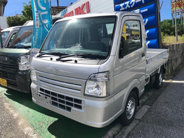 沖縄県沖縄市の中古車ならキャリイトラック KCエアコン・パワステ パワーステアリング エアコン マニュアル車