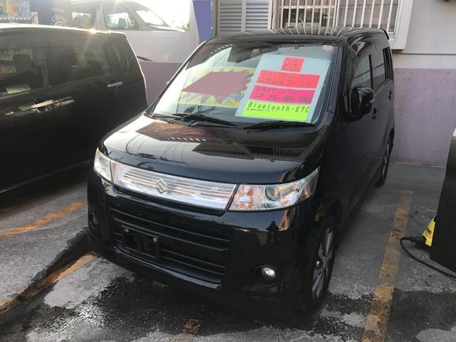 沖縄の中古車 スズキ ワゴンRスティングレー 車両価格 48万円 リ済込 2011(平成23)年 10.2万km ブルーイッシュブラックパール3