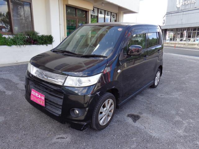 沖縄の中古車 スズキ ワゴンRスティングレー 車両価格 48万円 リ済込 平成22年 7.7万km ブラック