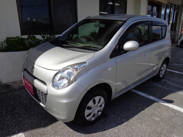沖縄の中古車 スズキ アルト 車両価格 38万円 リ済込 平成25年 6.8万km シルバー