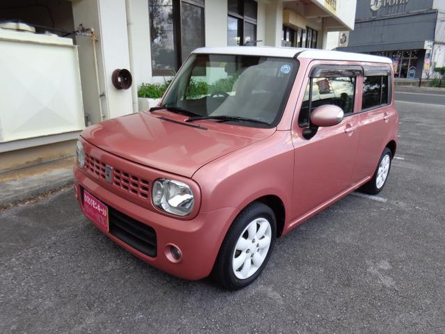沖縄の中古車 スズキ アルトラパン 車両価格 45万円 リ済込 平成21年 7.8万km ピンク