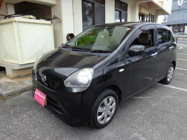 沖縄県の中古車ならミライース X ポータブルナビ CD ワンオーナー エコアイドル
