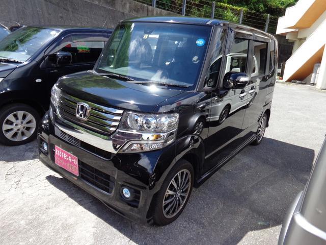沖縄県の中古車ならN-BOXカスタム G・ターボAパッケージ パワースライドドア TV ナビ