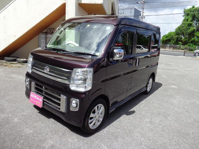 沖縄県の中古車ならエブリイワゴン JPターボ ナビ TV パワースライドドア