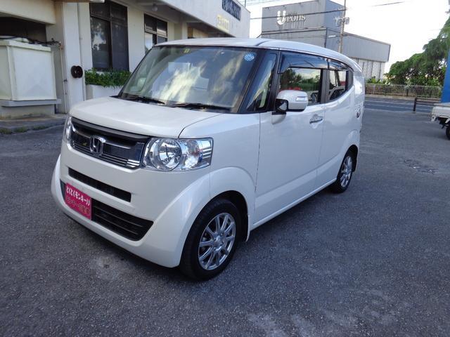 沖縄県の中古車ならN-BOXスラッシュ G スマートキー 社外アルミ AUX CD