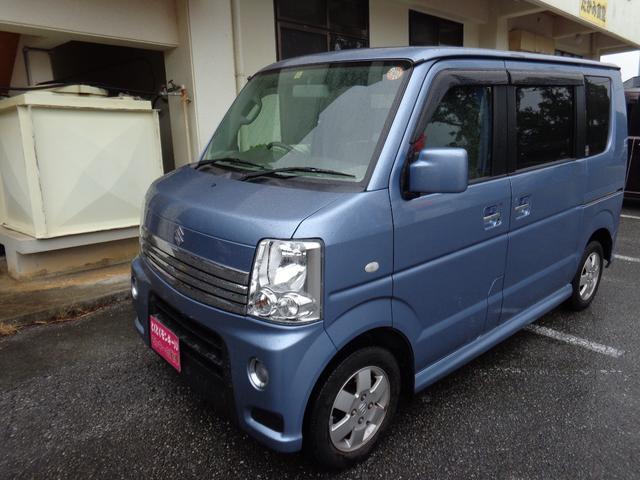 沖縄県の中古車ならエブリイワゴン PZターボ パワースライドドア 純正アルミ 電格ミラー