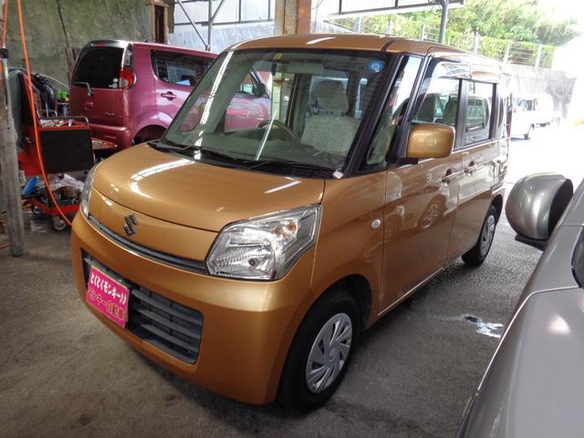 沖縄の中古車 スズキ スペーシア 車両価格 45万円 リ済込 2013(平成25)年 10.4万km オレンジ