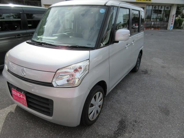 沖縄の中古車 スズキ スペーシア 車両価格 48万円 リ済込 2013(平成25)年 9.4万km シルバー