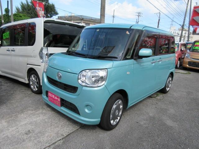 沖縄県沖縄市の中古車ならムーヴキャンバス X ブルトゥース プッシュスタート アイドリングストップ