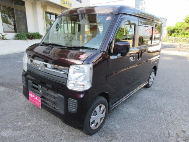 沖縄県の中古車ならスクラムワゴン PXターボ オートエアコン フルセグTVナビ 社外アルミ 電動格納ミラー プッシュスタート スマートキー